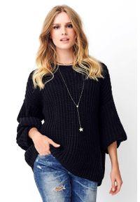 Czarny sweter oversize Makadamia
