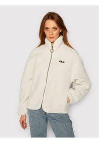 Fila Kurtka przejściowa Sari Sherpa 687980 Biały Regular Fit. Kolor: biały