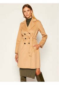 Beżowy płaszcz przejściowy Marella