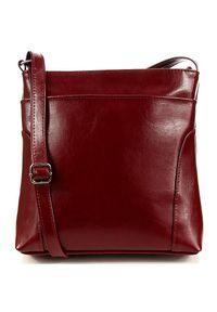 Czerwona torebka DAN-A przez ramię, casualowa