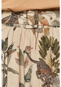 medicine - Medicine - Spódnica Summer Linen. Stan: podwyższony. Kolor: beżowy. Długość: długie