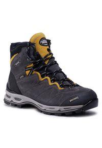 Szare buty trekkingowe MEINDL trekkingowe, Gore-Tex