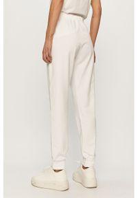 Białe spodnie dresowe Liu Jo gładkie