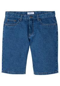 """Bermudy dżinsowe Regular Fit bonprix niebieski """"stone"""". Kolor: niebieski. Wzór: gładki"""