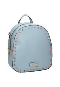 Nobo - Plecak damski torebka 2w1 błękit NOBO NBAG-G4080-C012. Materiał: skóra ekologiczna