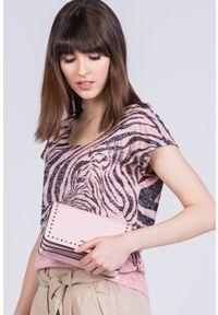 Różowa torebka Monnari z aplikacjami, na ramię