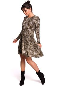 Szara sukienka rozkloszowana MOE