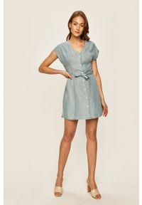 Niebieska sukienka ANSWEAR casualowa, na co dzień, prosta