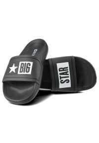 Big-Star - Klapki BIG STAR DD174699 906 Czarny. Okazja: na co dzień, na plażę. Kolor: czarny. Materiał: jeans. Wzór: napisy. Styl: wakacyjny, elegancki, casual