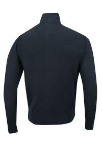 Niebieski sweter Just Yuppi ze stójką, na jesień, elegancki