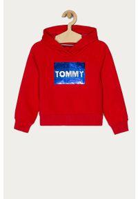 Czerwona bluza TOMMY HILFIGER na co dzień, casualowa