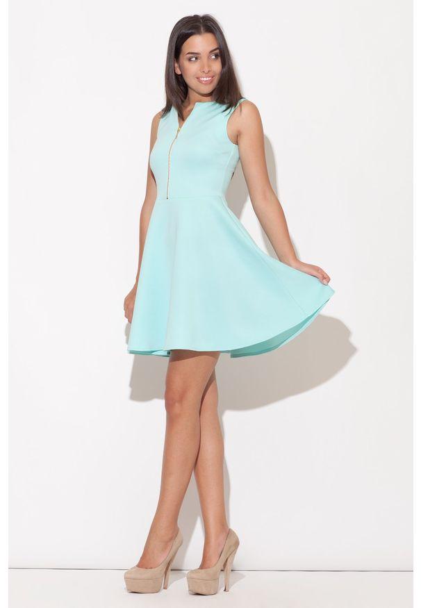 Zielona sukienka rozkloszowana Katrus