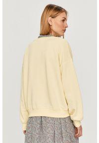 only - Only - Bluza. Okazja: na co dzień. Kolor: żółty. Materiał: bawełna. Długość rękawa: długi rękaw. Długość: długie. Styl: casual
