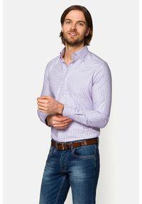 Lancerto - Koszula Różowa w Kratę Penelope. Okazja: na co dzień, na spotkanie biznesowe. Kolor: różowy. Materiał: bawełna, tkanina, jeans. Wzór: kratka. Styl: biznesowy, casual