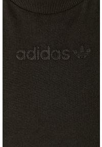 Czarna bluzka adidas Originals na co dzień, casualowa
