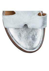Arturo Vicci - Klapki srebrne. Kolor: srebrny. Materiał: skóra. Styl: elegancki #5