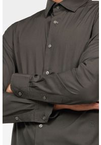 Szara koszula G-Star RAW z klasycznym kołnierzykiem, na co dzień, długa, casualowa