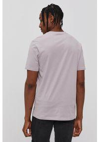Only & Sons - T-shirt. Okazja: na co dzień. Kolor: fioletowy. Materiał: dzianina. Wzór: gładki. Styl: casual