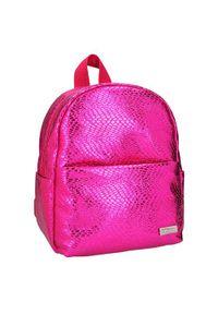 Top Model Model plecaka mini, Ciemnoróżowy, z wzorem węża. Kolor: różowy
