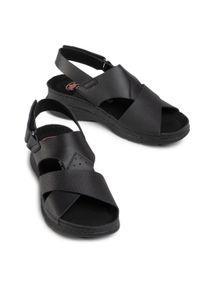 Czarne sandały Nik