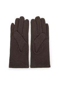 Brązowe rękawiczki Wittchen na zimę, z aplikacjami