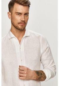 Biała koszula JOOP! gładkie, casualowa, długa