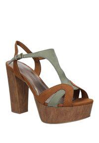 Marco Tozzi - sandały marco tozzi 2-28365-36. Okazja: na co dzień. Kolor: zielony, brązowy, wielokolorowy. Materiał: skóra ekologiczna, materiał. Sezon: lato. Styl: casual