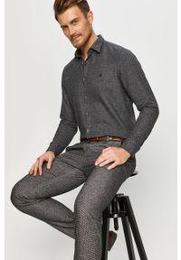 Szara koszula Marc O'Polo klasyczna, długa, polo
