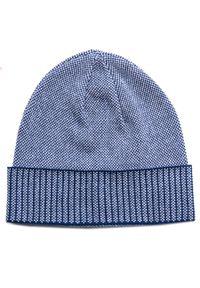 Niebieska czapka Giacomo Conti w kolorowe wzory, casualowa