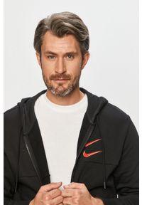 Czarna bluza rozpinana Nike Sportswear casualowa, z aplikacjami