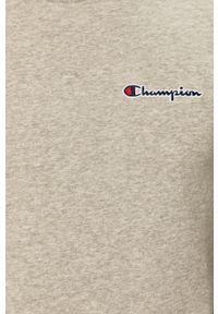 Champion - Bluza 214781. Okazja: na co dzień. Kolor: szary. Materiał: dzianina. Wzór: aplikacja. Styl: casual