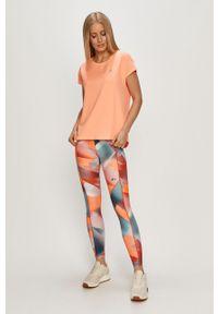 Only Play - T-shirt. Okazja: na co dzień. Kolor: pomarańczowy. Materiał: elastan, dzianina, poliester. Wzór: gładki. Styl: casual #2