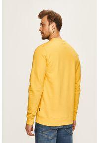 Żółta bluza nierozpinana Vans z nadrukiem, bez kaptura, na co dzień