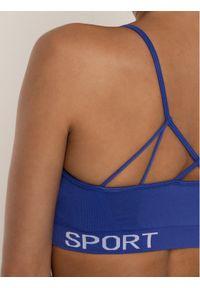 Niebieski biustonosz sportowy DKNY