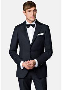 Lancerto - Garnitur Business Mix Czarny. Kolor: czarny. Materiał: poliester, wiskoza, tkanina, wełna. Wzór: gładki