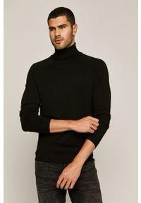 Czarny sweter medicine na co dzień, długi, casualowy, z długim rękawem