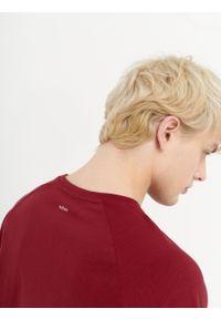 outhorn - T-shirt z nadrukiem męski. Materiał: bawełna, jersey, materiał. Długość rękawa: raglanowy rękaw. Wzór: nadruk #5