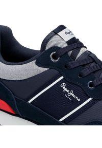 Pepe Jeans - Sneakersy PEPE JEANS - Cross 4 Sailor PMS30702 Navy 595. Kolor: niebieski. Materiał: materiał, zamsz, skóra. Szerokość cholewki: normalna