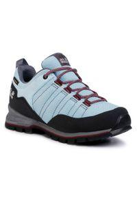 Niebieskie buty trekkingowe Jack Wolfskin z cholewką, trekkingowe