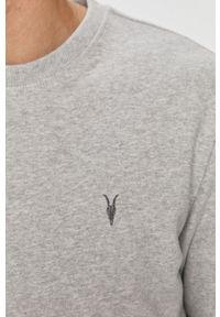 Szara bluza nierozpinana AllSaints bez kaptura, na co dzień, casualowa