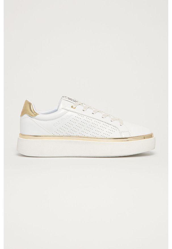 U.S. Polo Assn. - Buty. Nosek buta: okrągły. Zapięcie: sznurówki. Kolor: biały. Materiał: skóra ekologiczna, syntetyk, materiał, guma. Szerokość cholewki: normalna. Obcas: na obcasie. Wysokość obcasa: średni