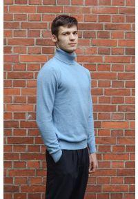 Niebieski sweter VEVA elegancki, na co dzień