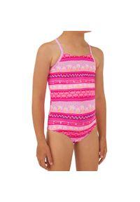 OLAIAN - Kostium Kąpielowy Jednoczęściowy Hanalei 100 Ena Dla Dzieci. Kolor: różowy. Materiał: poliester, elastan, materiał