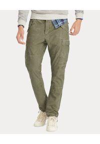 Ralph Lauren - RALPH LAUREN - Męskie spodnie Cargo Slim Fit. Okazja: na co dzień. Kolor: zielony. Styl: elegancki, casual, militarny