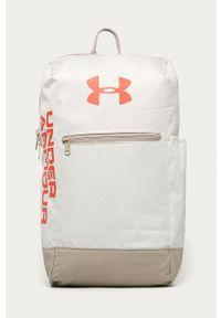 Beżowy plecak Under Armour z nadrukiem
