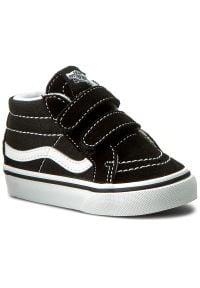 Vans - Sneakersy VANS - Sk8-Mid Reissue V VN00018W6BT Black/True White. Kolor: czarny. Materiał: zamsz, materiał, skóra. Szerokość cholewki: normalna