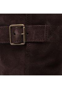 Brązowe botki Clarks na obcasie, na średnim obcasie, z cholewką #6