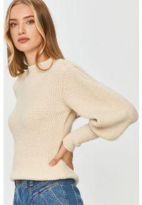 Beżowy sweter Answear Lab długi, na co dzień, z długim rękawem