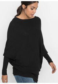 Czarny sweter bonprix w prążki