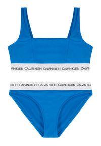 Niebieski strój kąpielowy Calvin Klein Swimwear